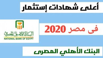 أعلى عائد شهادات استثمار في مصر